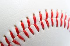 Close shot of baseball stitches Royalty Free Stock Images