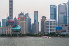 Close shot of Shanghai Financial District Royalty Free Stock Image
