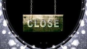 Close sign stock video