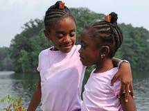 Close sisters royalty free stock photos