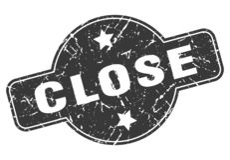 close stamp stock illustration