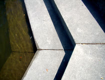 Close to Concrete Steps Pointing Right Royalty Free Stock Photos