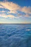 Close to God. Beautiful sky image above de clouds and horizon Stock Photo