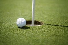 Close to the hole Royalty Free Stock Images
