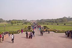 Close to Lotus temple in Delhi Royalty Free Stock Photography