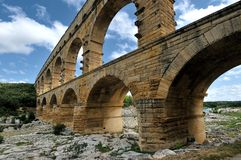Close to Pont-du-Gard Royalty Free Stock Photo