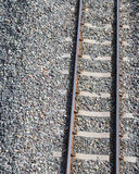 Close to the railroad with rocks. Royalty Free Stock Photos