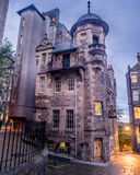 Writers` Museum Edinburgh. The  close to The Royal Mile in Old Town. It celebrates 3 great Scottish writers - Robert Burns Sir Walter Scott and Robert Louis Royalty Free Stock Photos