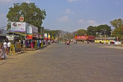 Close to Vijayawada bus station Stock Image