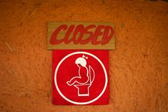 Close toilet sign Royalty Free Stock Image