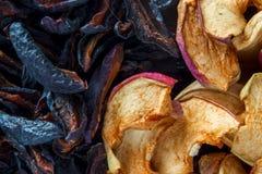 close 3 torkade upp - frukttyper Arkivfoto