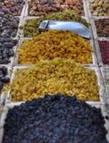 close 3 torkade upp - frukttyper Arkivfoton
