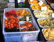 close 3 torkade upp - frukttyper Royaltyfri Foto