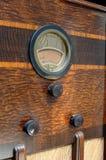 Close uo of vintage radio. Close-up of 1930's vintage Philco radio Stock Photography