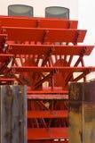 Close-up затворов на paddleboat Стоковая Фотография