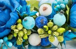 Close-up искусственних цветков Стоковая Фотография
