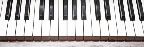 Close-up ключа рояля стоковая фотография