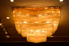 Close-up красивейшего кристаллического канделябра Стоковая Фотография