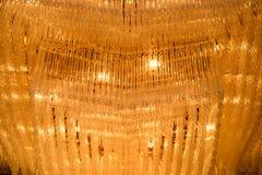 Close-up красивейшего кристаллического канделябра Стоковое Изображение RF