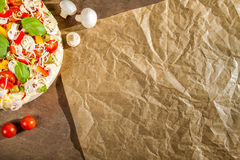 Close-up меню на No 5 pizzerias стоковое фото rf