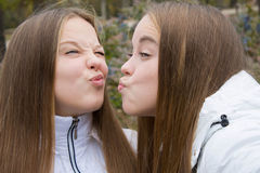 Close-up милых близнецов Стоковое Изображение RF