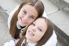 Close-up милых близнецов   Стоковые Фото