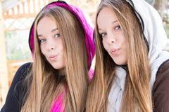 Close-up милых близнецов   Стоковая Фотография