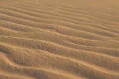 Close-up пульсаций песка Стоковая Фотография
