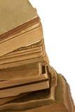 Close-up стога старых книг Стоковые Фотографии RF