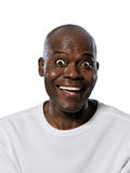 Close-up человека с глазами широкими раскрывает Стоковая Фотография RF