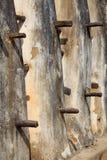 Close up 1 da parede da mesquita da lama e da vara Fotografia de Stock Royalty Free