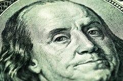 Close-up 100 dólares Imagens de Stock Royalty Free
