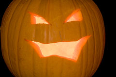 Close-Up 2 da Jack-o-Lanterna foto de stock