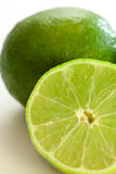 Close-up of 2 limes Stock Photography