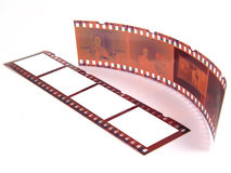 Close-up of 35 mm film-strip. Old 35 mm film-strip as placeholder to put images in (isolated Stock Image