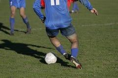 Close-up 4 van het voetbal Stock Fotografie