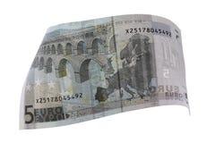Close-up of 5 Euro Stock Photo
