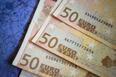 Close-up of 50 Euro Money Stock Images