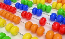 Close up abacus. On white background stock illustration