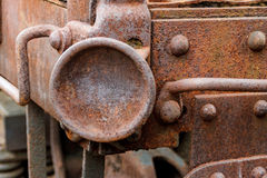 Close up of abandoned coal freight train car. Virginia Museum Of Transportation Royalty Free Stock Photography
