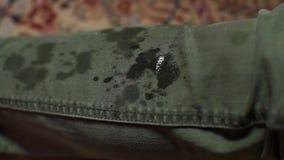 Close-up of absorbent liquid drop tissue.
