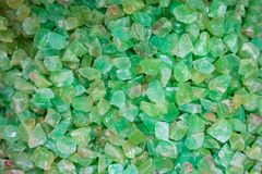 Close-up abstract green quartz stone stock photo