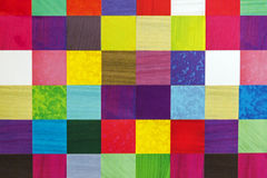 Close Up Abstract Multi Colored Square Pattern Background Stock Photo