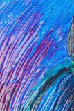 Close up of abstract painted canvas. Stock Photo