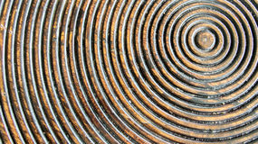 Close up of Abstract Seamless Pattern of Rustic Wooden Panel in Round or Circle Shape used as Template of Background Textured or F Stock Photography