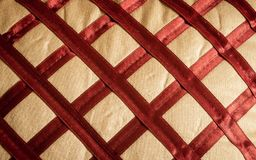Close up Abstract of silk or satin fabric background of linen cloth textile of red fabric with crisscross diagonal pattern for any. Occasion. Natural canvas royalty free stock photos