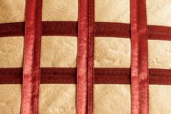 Close up Abstract of silk or satin fabric background of linen cloth textile of red fabric with crisscross diagonal pattern for any. Occasion. Natural canvas stock photos