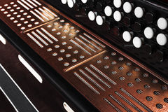 Close-up accordion against a black background Royalty Free Stock Photos