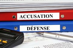 Prosecution and defense case at trial royalty free stock photo