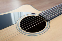 Close up of an acoustic guitar Royalty Free Stock Photo